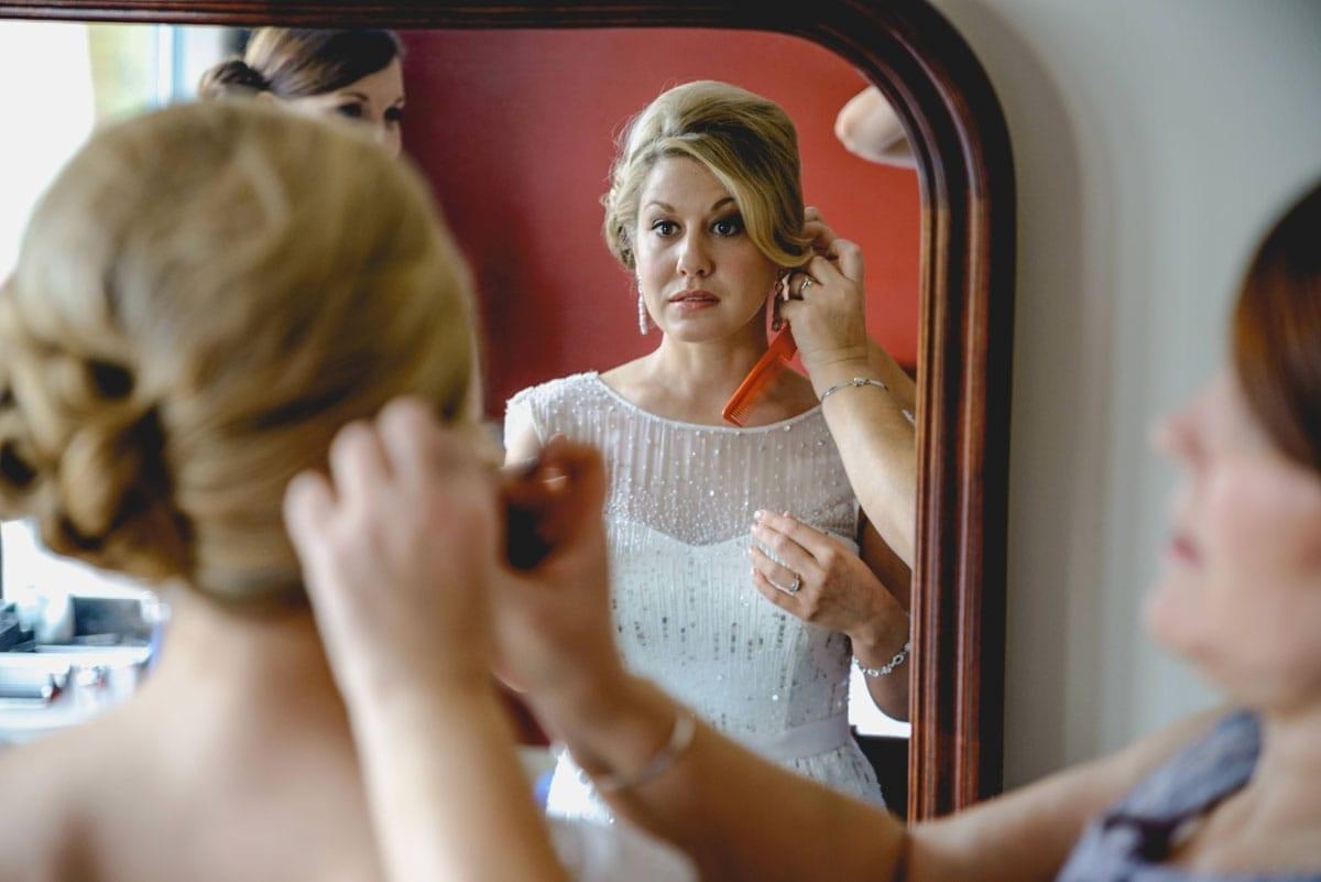 bride getting ready Clandeboye Estate Wedding Photography