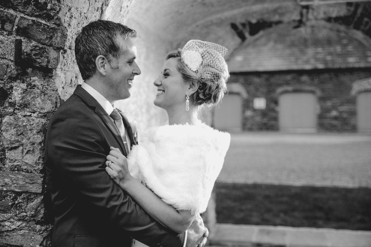 Bride and groom portrait Clandeboye Estate Wedding Photography