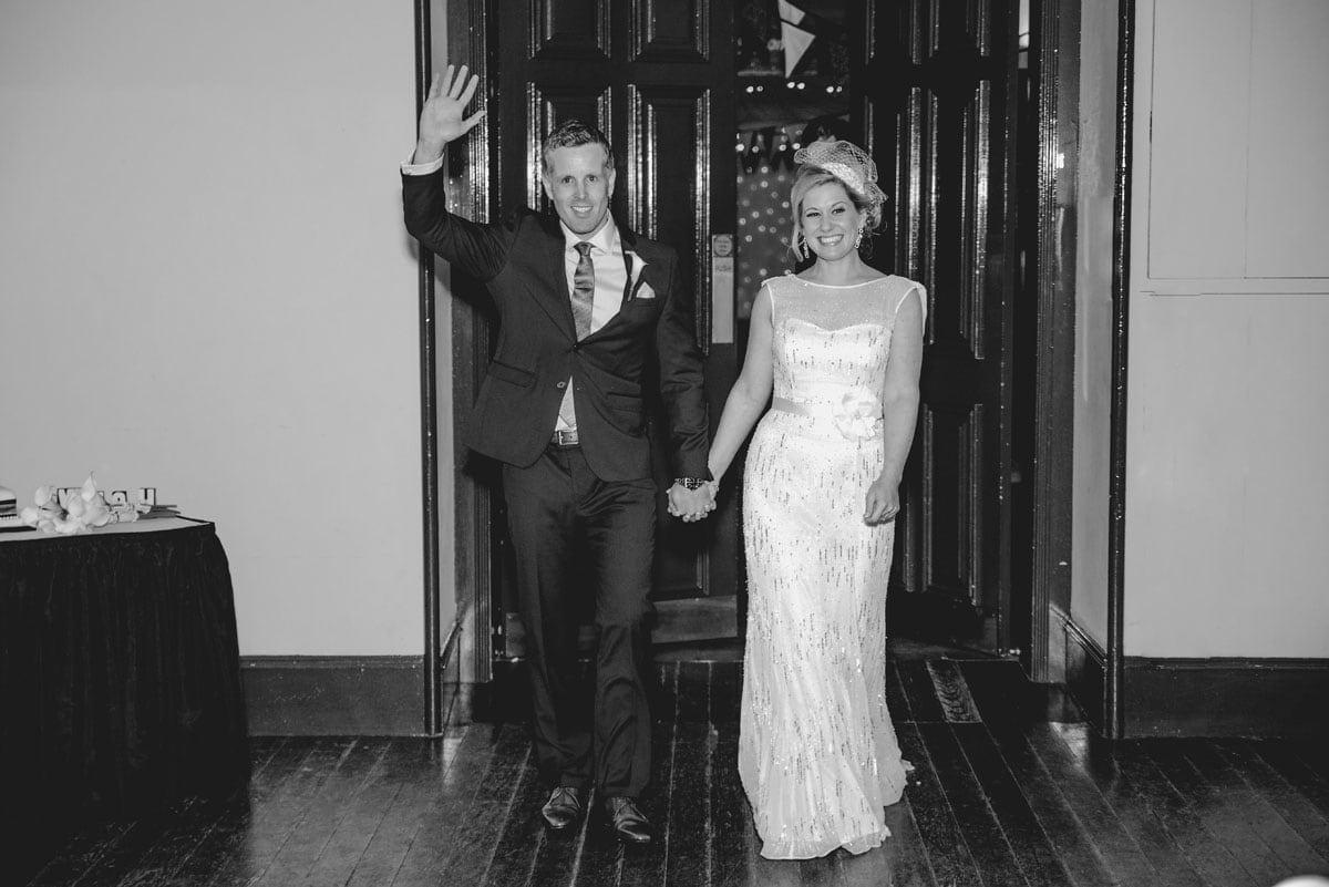 bride and groom enter Clandeboye Estate Wedding Photography