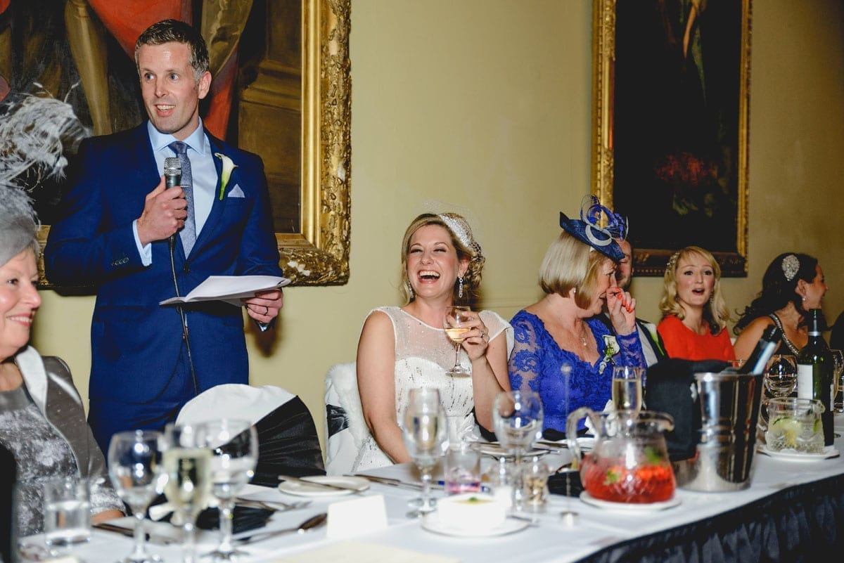 The speeches at Clandeboye Estate Wedding Photography