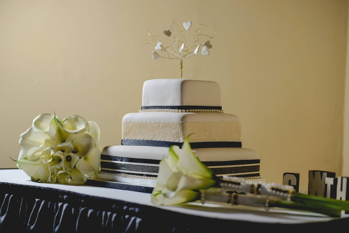 The cake at Clandeboye Estate Wedding Photography