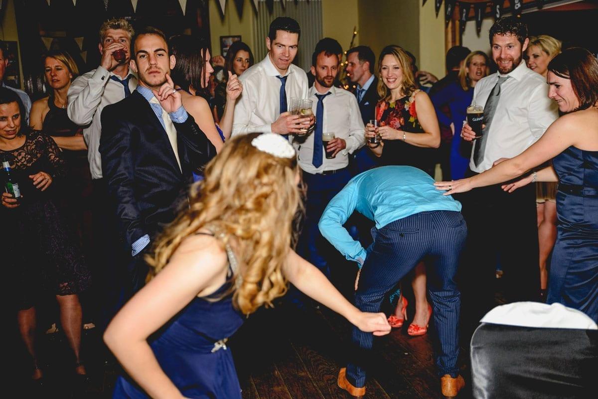 craziness on the dancefloor at Clandeboye Estate Wedding Photography