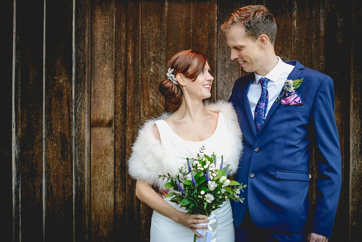 Bride and groom portrait Loseley Park Wedding Photographer