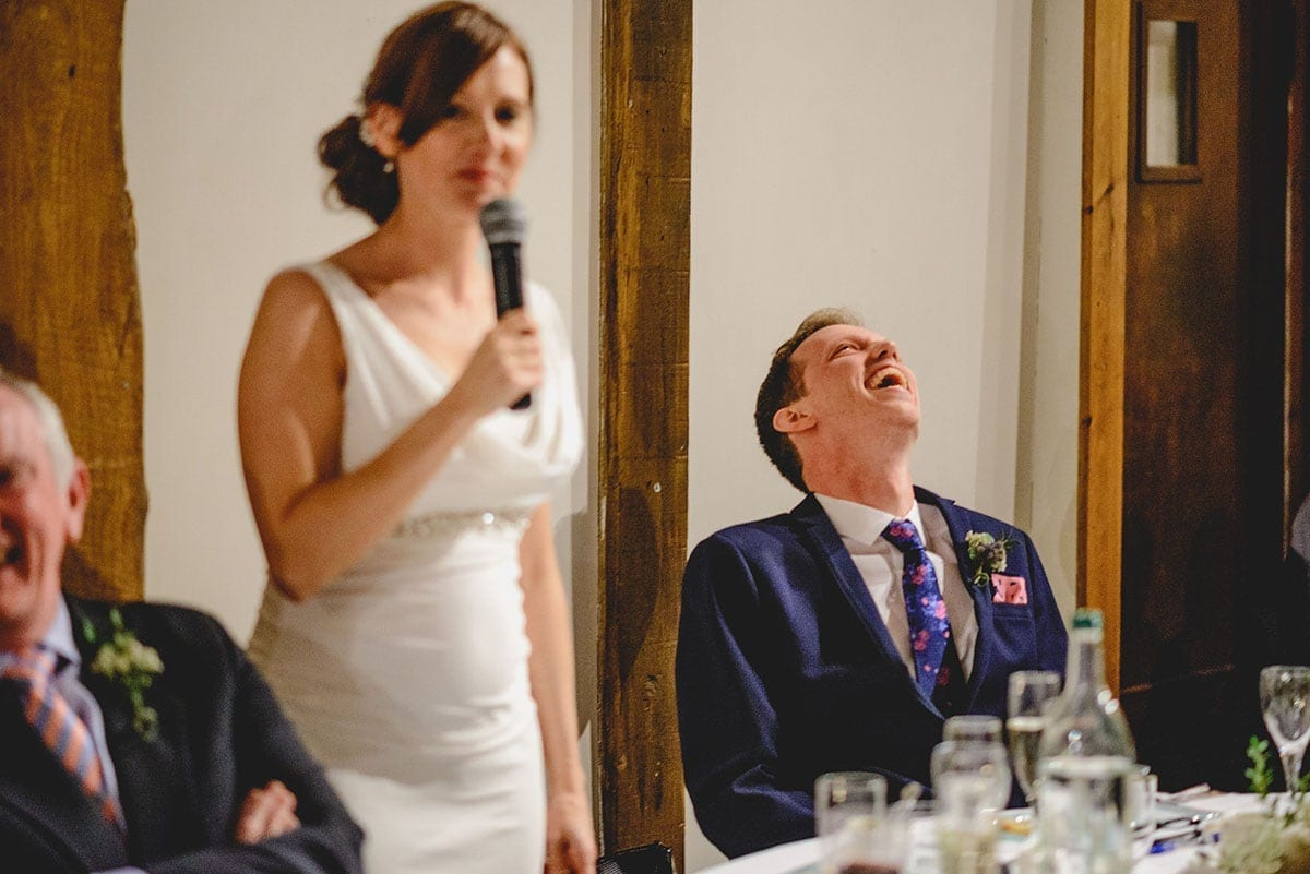 Speeches at Loseley Park Wedding Photographer